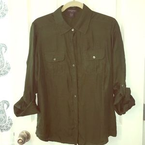 Banana Republic button up blouse sz L